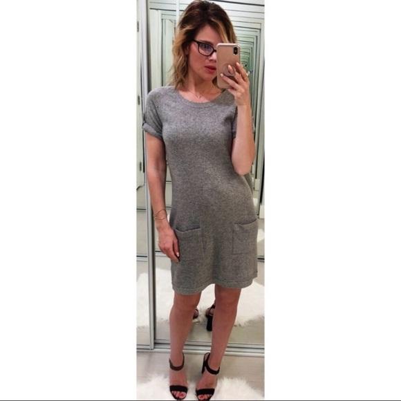 Theory Dresses & Skirts - Theory  Gray Candace Cashmere dress!